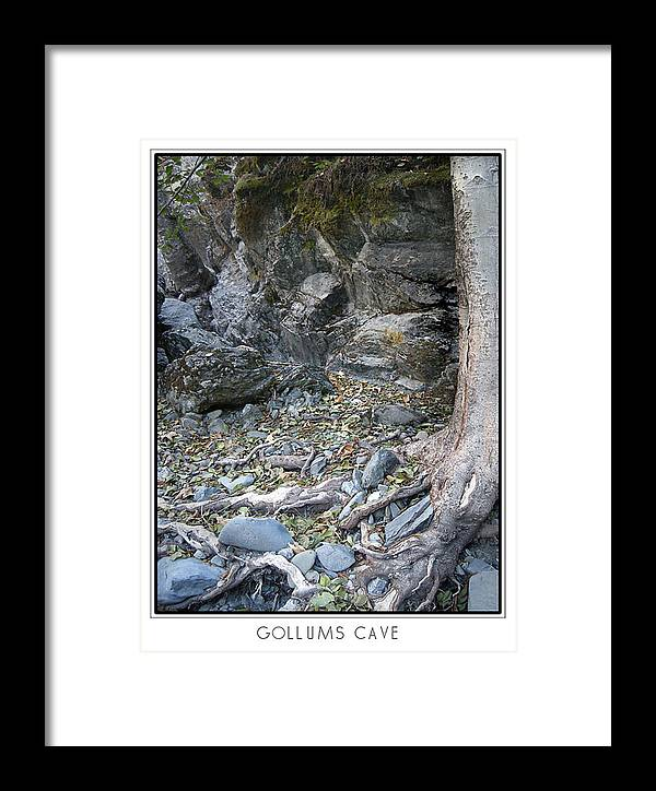Trees Framed Print featuring the photograph Gollum's Cave by Karen W Meyer