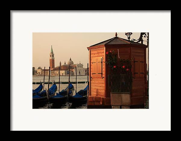 Venice Framed Print featuring the photograph Gondal Station At San Marco by Michael Henderson