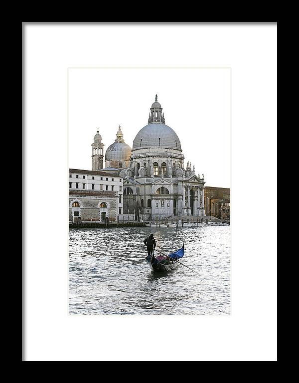 Gondola Framed Print featuring the photograph Gondola Alla Salute by Marco Missiaja