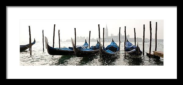 Venezia Framed Print featuring the photograph Gondole in bacino 2078 by Marco Missiaja