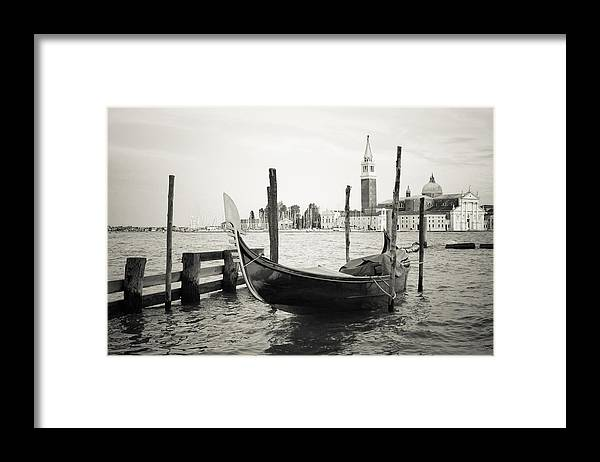 Venezia Framed Print featuring the photograph Gondola in bacino S.Marco S by Marco Missiaja