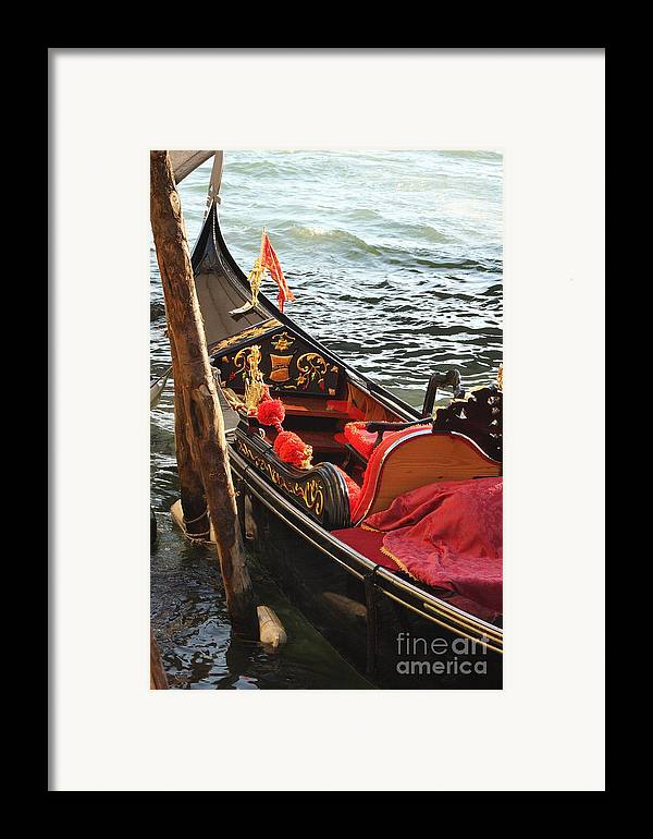 Venice Framed Print featuring the photograph Gondola In Venice by Michael Henderson