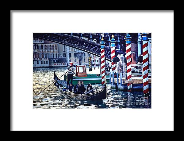 Venice Framed Print featuring the photograph Gondola In Venice On Grand Canal by Michael Henderson