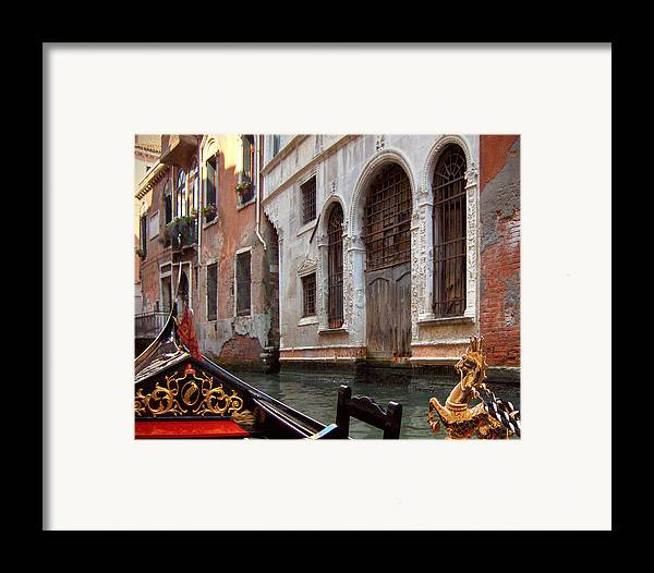 Gondola Framed Print featuring the photograph Gondola by Julie Geiss