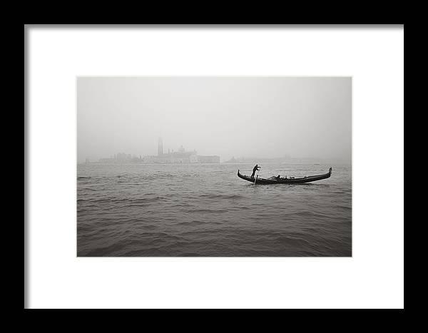 Venice Framed Print featuring the photograph Gondola Nella Nebbia 193042x by Marco Missiaja