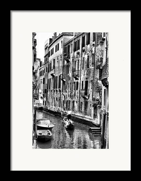 Venice Framed Print featuring the photograph Gondola Ride In Venice by Greg Sharpe