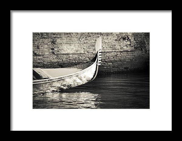 Venice Framed Print featuring the photograph Gondola Wall by Marco Missiaja