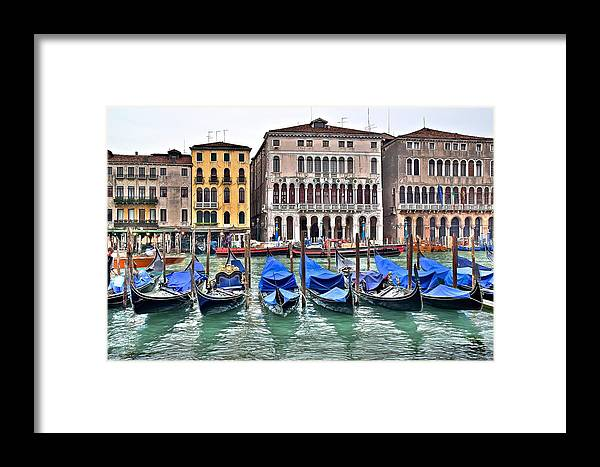 Gondolas Framed Print featuring the photograph Gondolas Galore by Frozen in Time Fine Art Photography