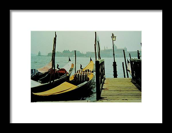 Venice Framed Print featuring the photograph Gondolas by Ian MacDonald
