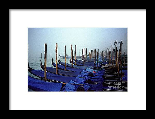 Venice Framed Print featuring the photograph Gondolas In Venice In The Morning by Michael Henderson
