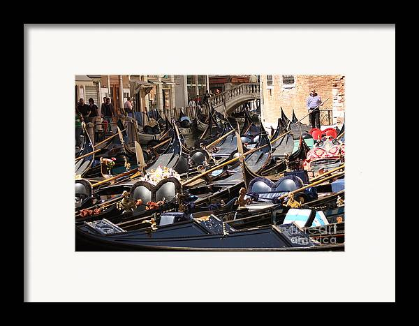 Venice Framed Print featuring the photograph Gondolas Parked In Venice II by Michael Henderson