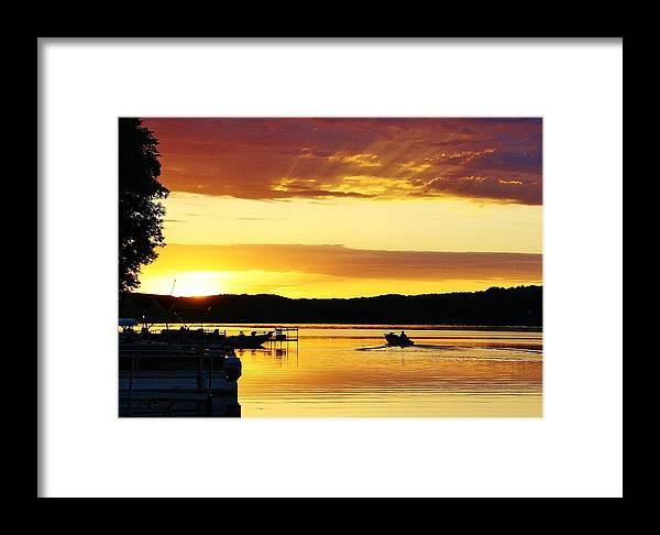 Fishermen Framed Print featuring the photograph Gone Fishing by Bruce Bley