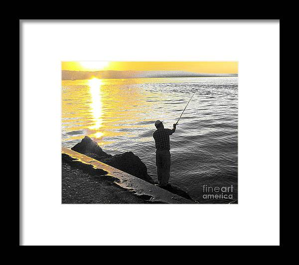 Fishing Framed Print featuring the photograph Gone Fishing by Larry Keahey