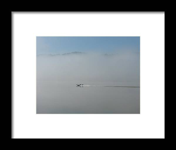 River Framed Print featuring the photograph Gone Fishing by Martie DAndrea