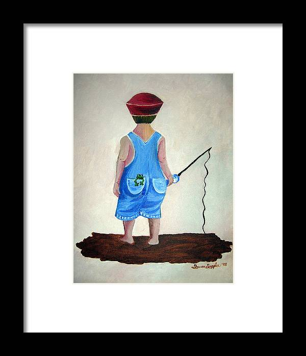 Fishing Framed Print featuring the painting Gone Fishing by Sharon Supplee