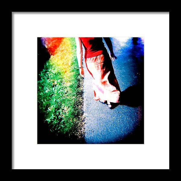 Color Photograph Holga Framed Print featuring the photograph Gone by Olivier De Rycke