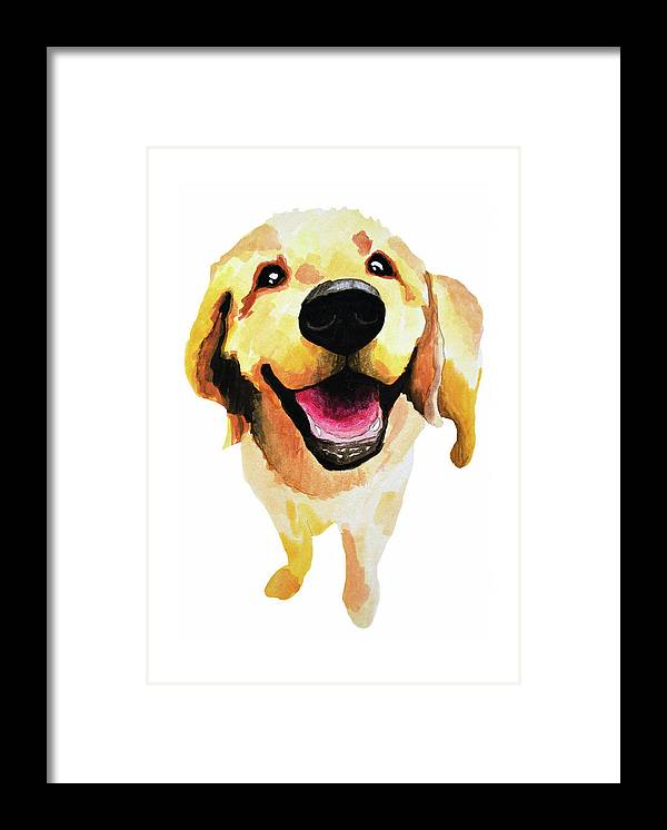 Dog Framed Print featuring the painting Good Boy by Amy Giacomelli