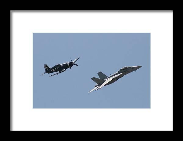 Airplane Framed Print featuring the photograph Good Buddies by David Dunham