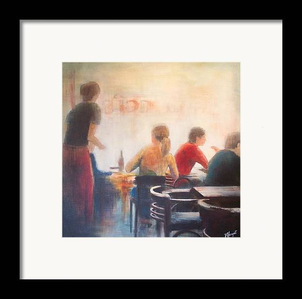 Restaurant Framed Print featuring the painting Good Company by Victoria Heryet