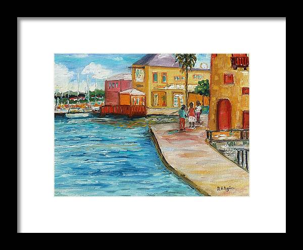 Landscape Framed Print featuring the painting Good Day by Diane Elgin