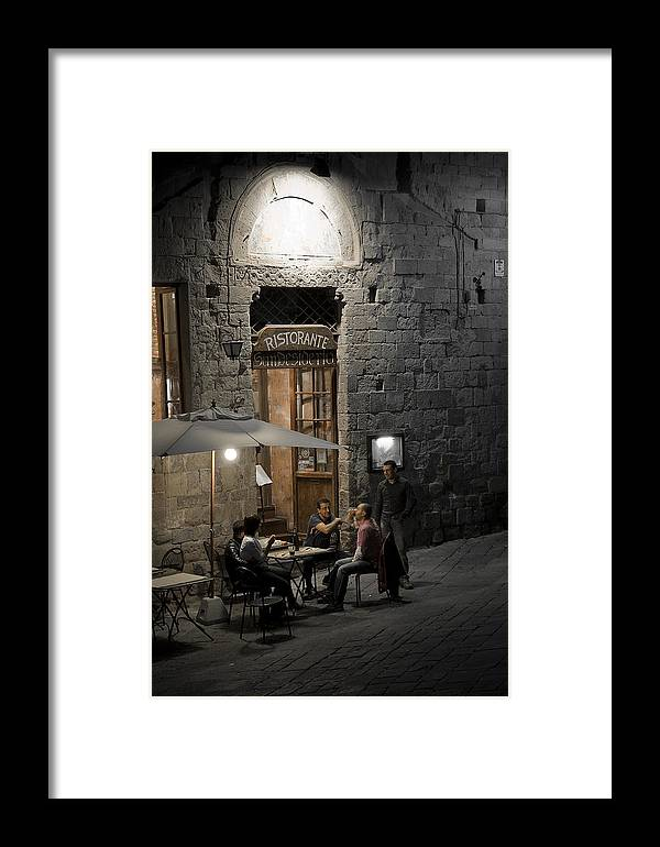 City Framed Print featuring the photograph Good Food - Good Company by Carl Jackson