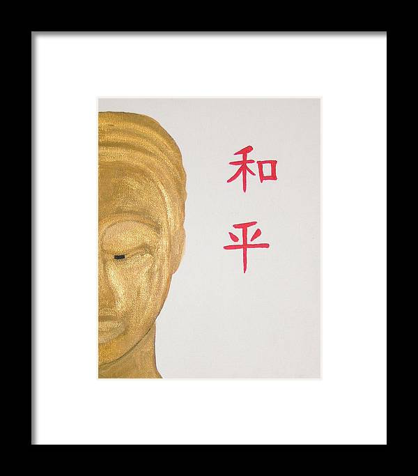 Budda Framed Print featuring the painting Good Fortune by Donielle Boal