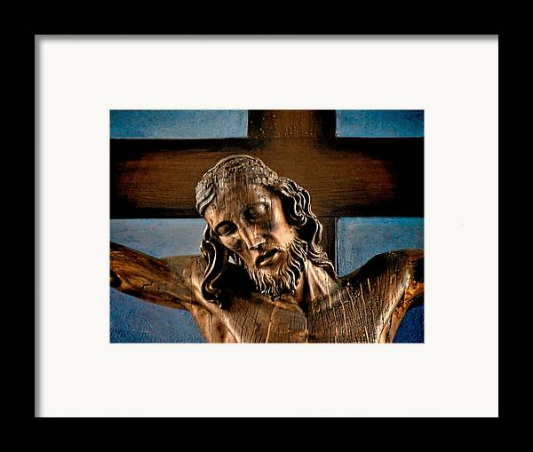 Easter Framed Print featuring the photograph Good Friday Jesus On The Cross by Christine Till