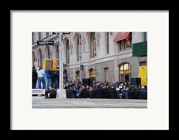 Church Framed Print featuring the photograph Good Friday On Trinity Place by Rob Hans