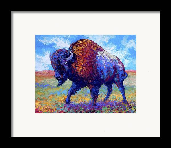 Bison Framed Print featuring the painting Good Medicine by Marion Rose