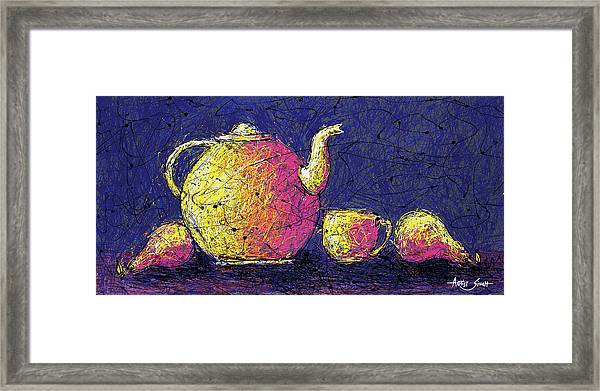 Good Morning Framed Print featuring the painting Good Morning by Artist SinGh -