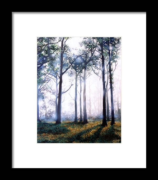 Oil Framed Print featuring the painting Good Morning by Chonkhet Phanwichien