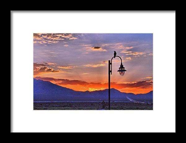 Desert Framed Print featuring the photograph Good Morning Sun by Leah Knight