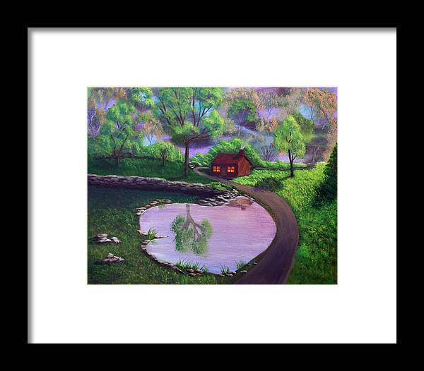 Light Framed Print featuring the painting Good Spring Morning by Dawn Blair
