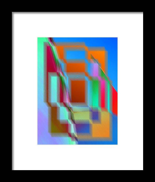 Abstract Framed Print featuring the digital art Good Vibrations by Tim Allen