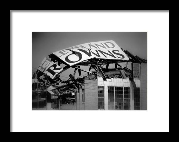 Cleveland Framed Print featuring the photograph Goodbye Cleveland Stadium by Kenneth Krolikowski