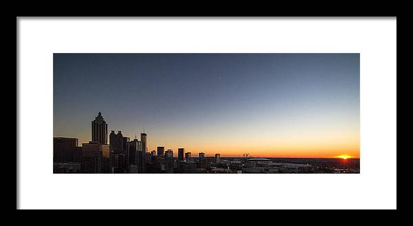 Sunset Framed Print featuring the photograph Goodnight In The City by Mike Dunn