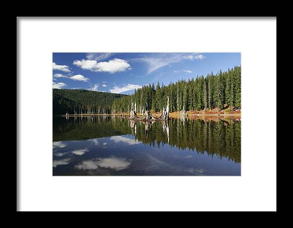 Goose Lake Framed Print featuring the photograph Goose Lake by Wes and Dotty Weber