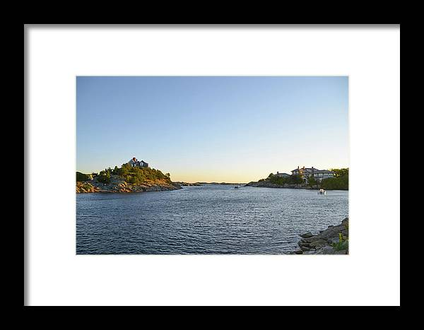 Goose Framed Print featuring the photograph Goose Neck Cove - Newport Rhode Island by Bill Cannon