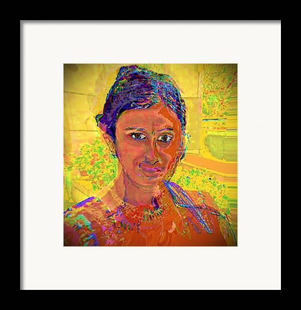 Portrait Framed Print featuring the digital art Gopika by Noredin Morgan