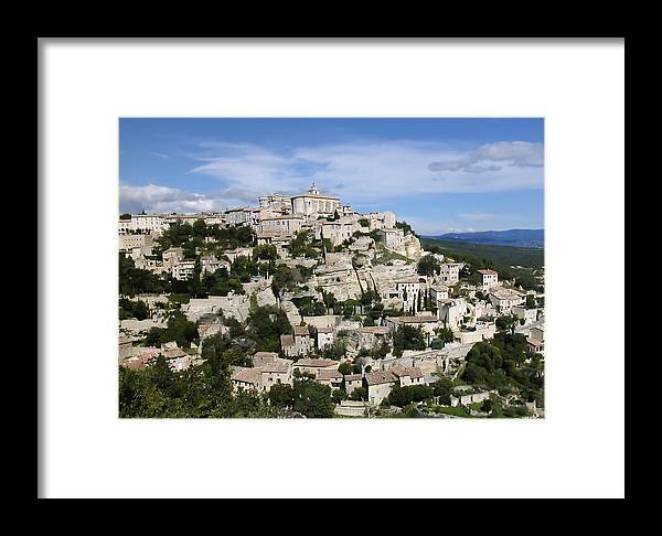 France Framed Print featuring the photograph Gordes Provence France by Alan Toepfer