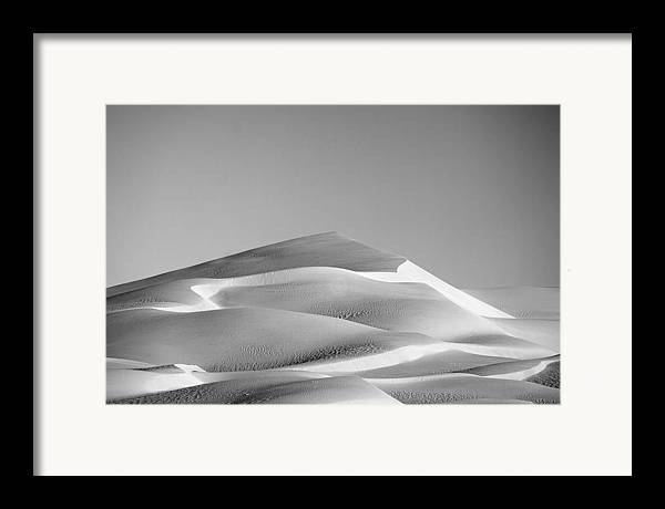Black & White Framed Print featuring the photograph Gordon Wells Dunes by Peter Tellone