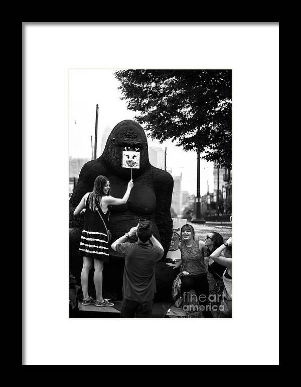 Gorilla Framed Print featuring the photograph Gorilla Fun by Robert Yaeger