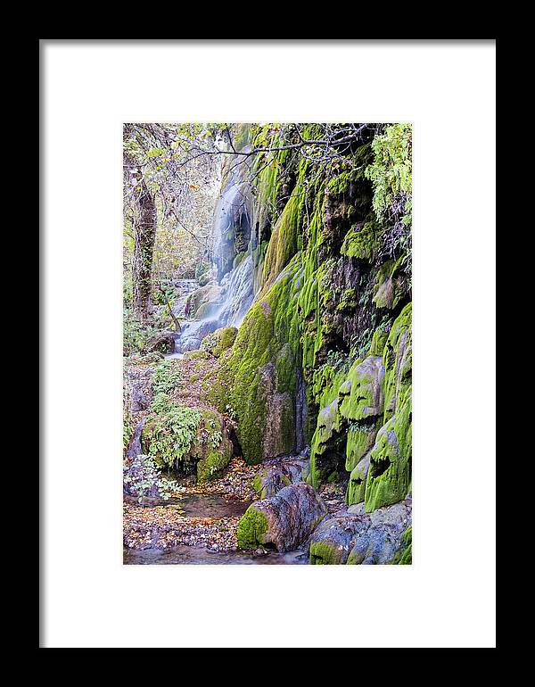 Central Framed Print featuring the photograph Gorman Falls At Colorado State Park II - San Saba Texas Hill Country by Silvio Ligutti