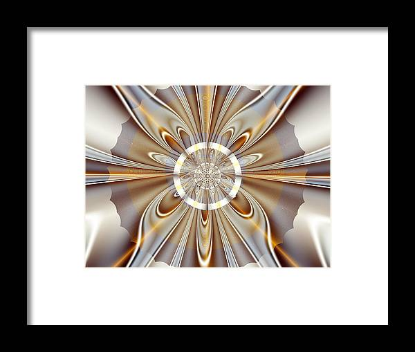 Fractal Framed Print featuring the digital art Gossamer by Vicky Brago-Mitchell