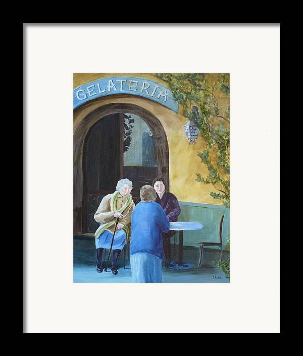 Italy Framed Print featuring the painting Gossip Girls by Joe Lanni