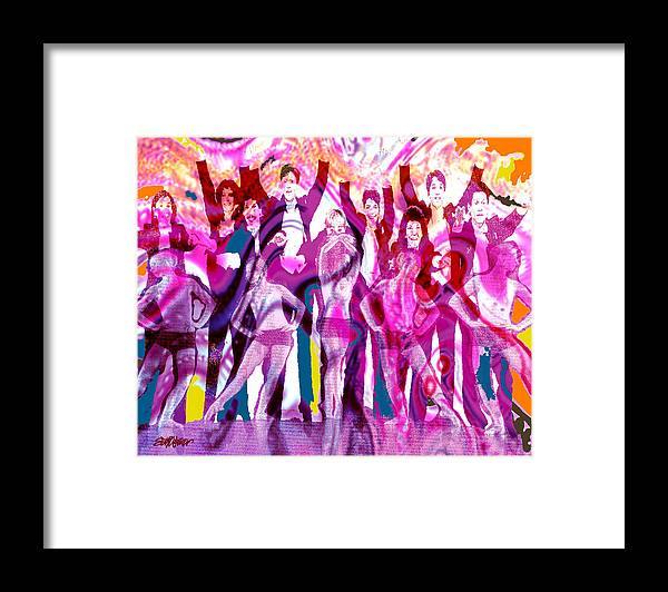 Joy Framed Print featuring the digital art Got To Dance by Seth Weaver