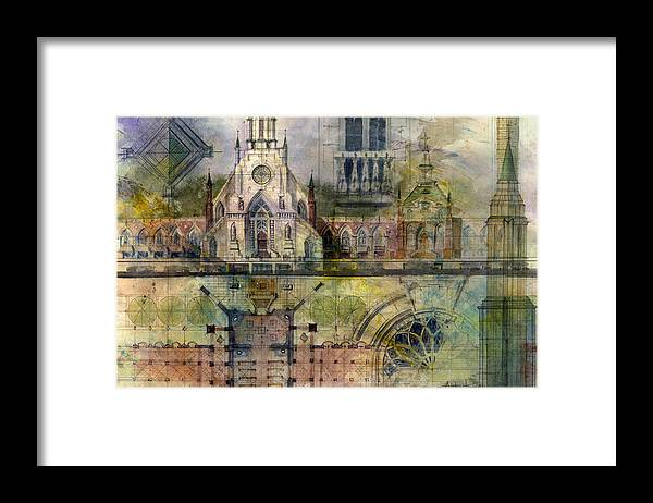 Gothic Framed Print featuring the painting Gothic by Andrew King