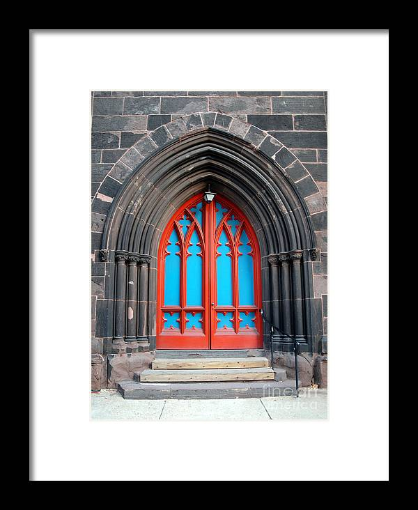 Architecture Framed Print featuring the photograph Gothic Church Door by Walter Oliver Neal