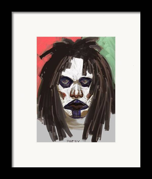 Portrait Framed Print featuring the painting Gothic Dread by Michael Facey
