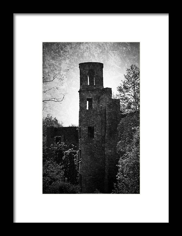 Irish Framed Print featuring the photograph Gothic Tower at Blarney Castle Ireland by Teresa Mucha